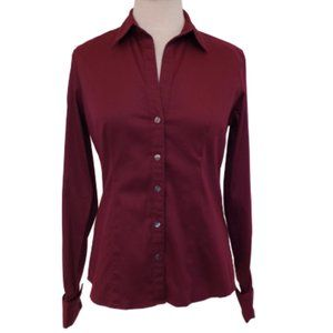 Banana Republic Stretch Cotton Tailored Shirt- Sm